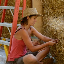 tying strawbales together
