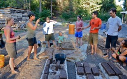 making adobe bricks with Janell Kapoor
