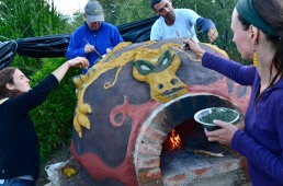 Cob oven with dragona