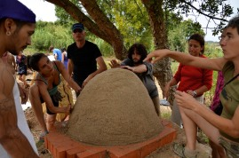 Sand dome for the Cob Oven