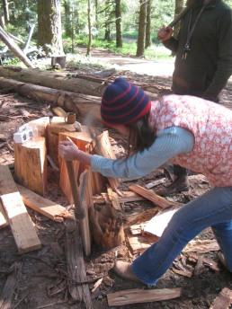 splitting cedar shakes