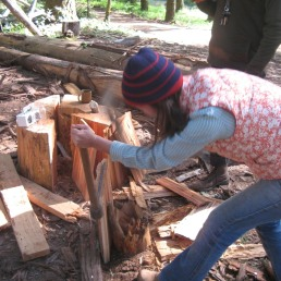 splitting cedar shakes