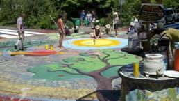 Intersection painting, Portland, Oregon