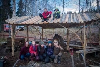 outdoor kitchen in Sweden
