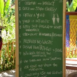 Permaculture principles are the main pillars in the development of the land.