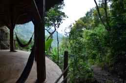 The new Yoga Shala within tropical vegetation!