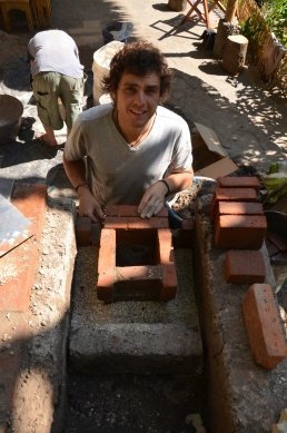 Ben was great help and after the course he felt confident to build a stove on his own!