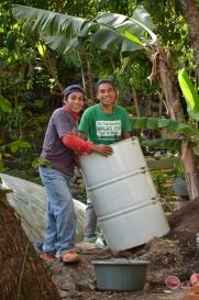 Juan and Francisco bringing up the barrel!