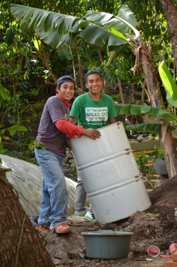 Juan and Francisco bringing up the barrel!
