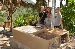 Outdoor kitchen at The Yoga Forest