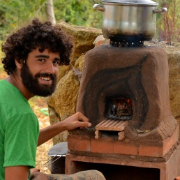 One-pot rocket stove, Portugal 2013
