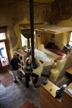 built in cob furniture