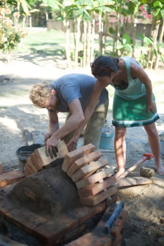 Building an arch for firewood storage